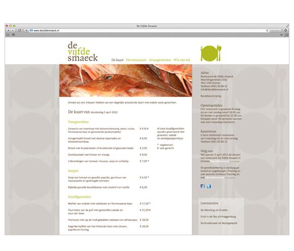Website De Vijfde Smaeck