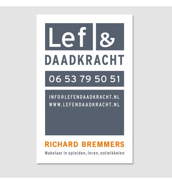 Visitekaartje Lef en Daadkracht