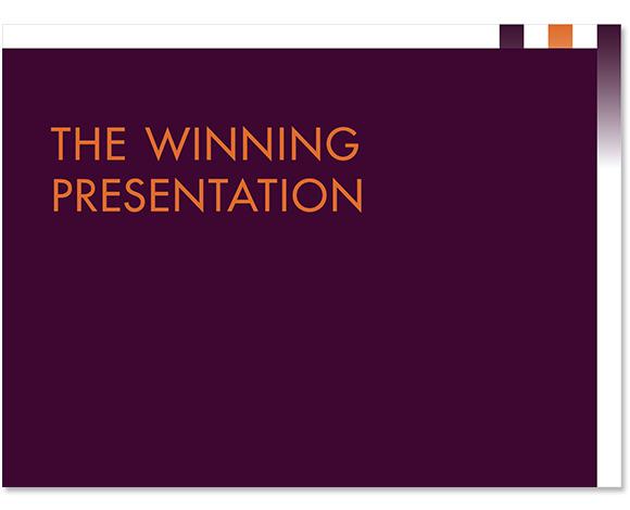 Presentatie The Winning Presentation