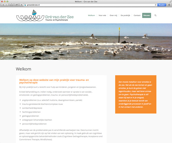 Website Gré van der Zee
