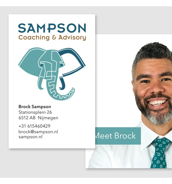 Logo en visitekaartje voor Sampson Coaching & Advisory