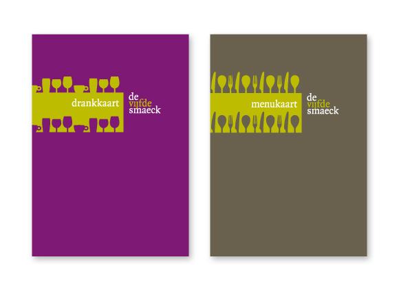 Twee omslagen voor drank- en menukaart